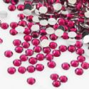 Jewel Embellishments, Resin, Magenta, Faceted Discs, 4mm x 4mm x 1.2mm, 300  pieces, (ZSS061)